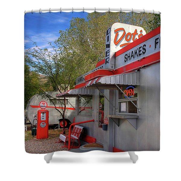 Dot's Diner In Bisbee Shower Curtain