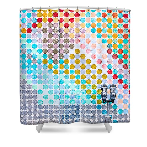 Dots, Many Colored Dots Shower Curtain