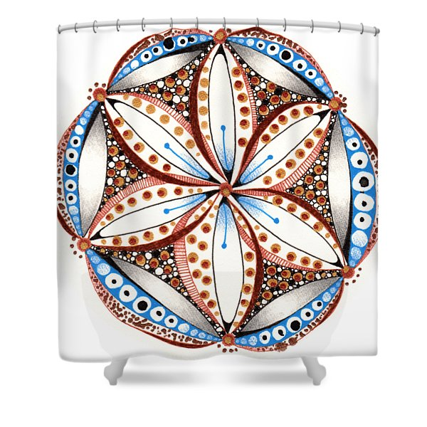Dotted Zendala Shower Curtain