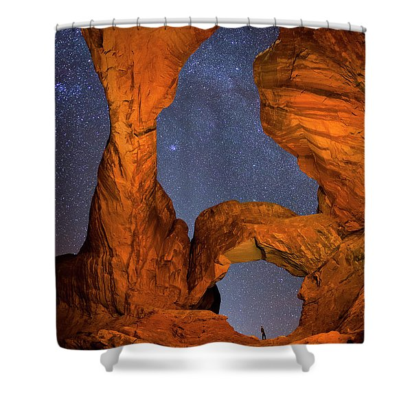 Double Arch At Night Shower Curtain