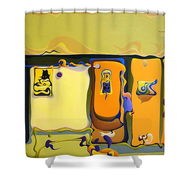 Double Door Power Play Shower Curtain
