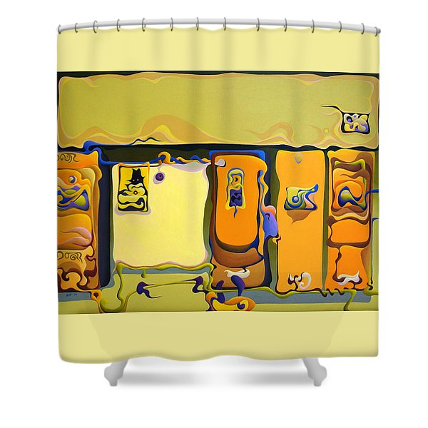 Double Door Power Play Shower Curtain