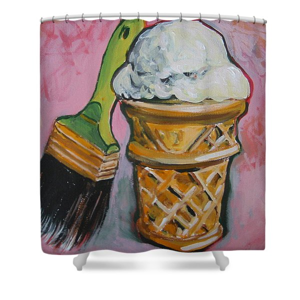 Double Icon Shower Curtain