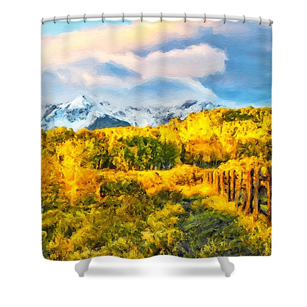 Double Rl Fenceline Shower Curtain