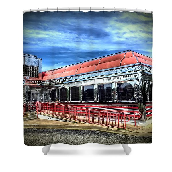 Double T Diner Shower Curtain