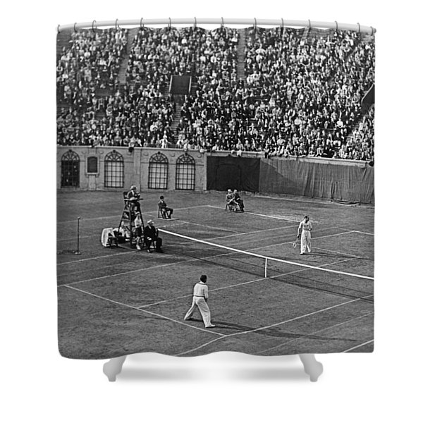 Doubles Tennis At Forest Hills Shower Curtain