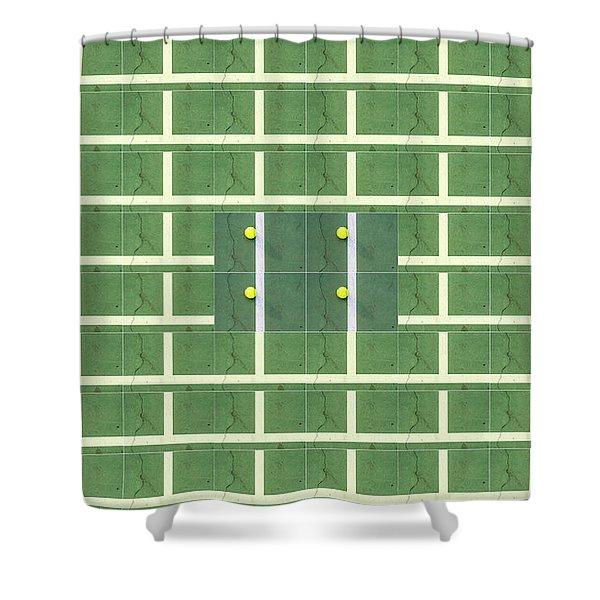 Doubles Tennis Shower Curtain
