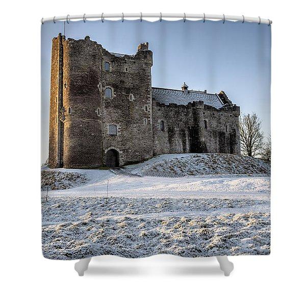 Doune Castle In Central Scotland Shower Curtain