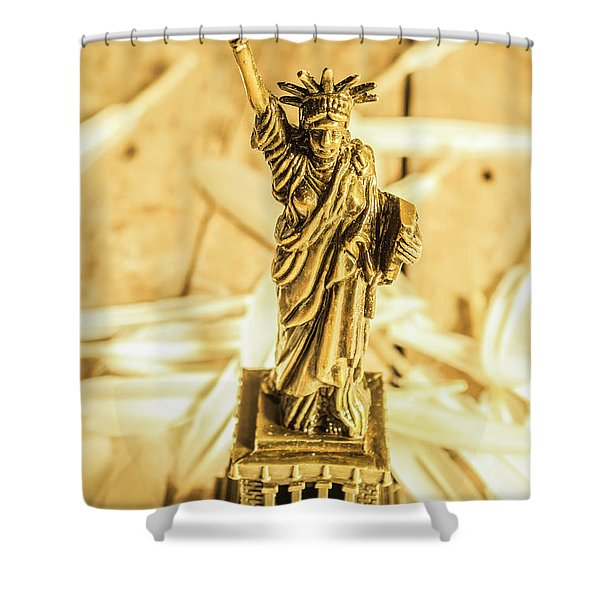Dove Feathers And American Landmarks Shower Curtain
