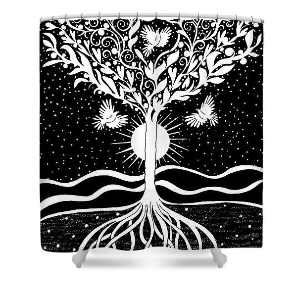 Dove Tree Shower Curtain
