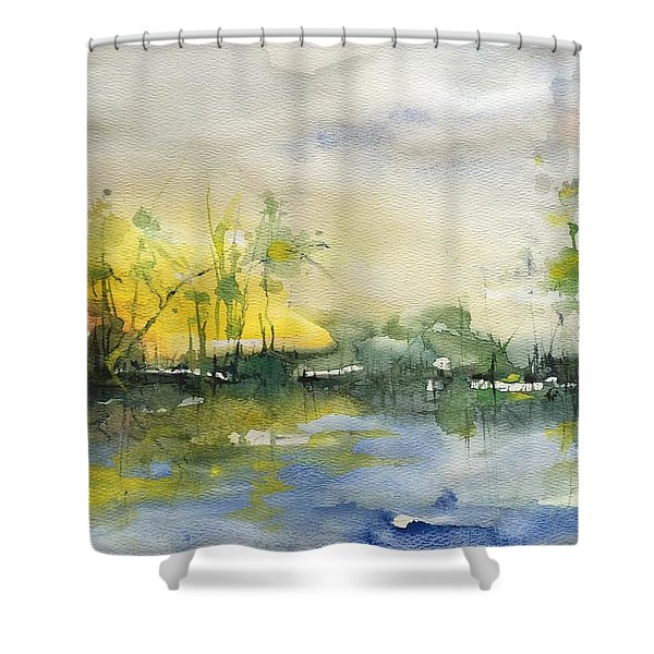 Down By The Riverside Shower Curtain