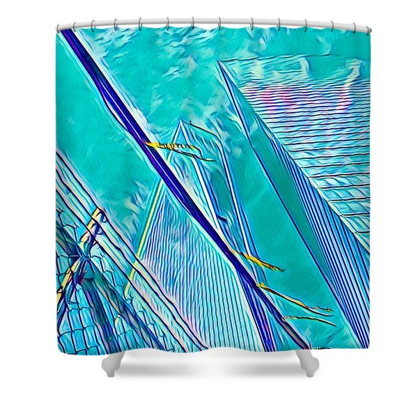 Down By The Water Shower Curtain