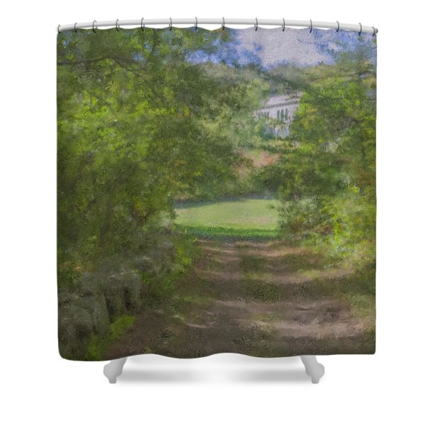 Down From The Mansion Shower Curtain