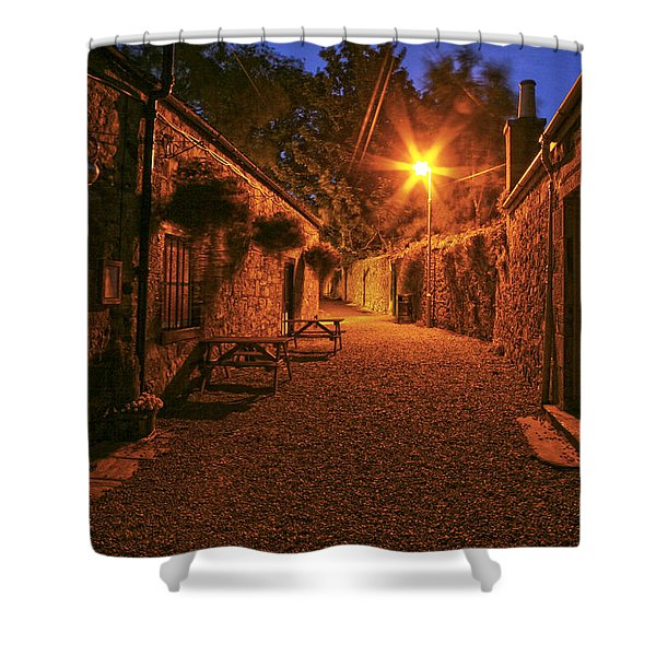 Down The Alley Shower Curtain
