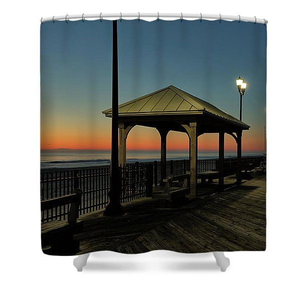 Down The Shore At Dawn Shower Curtain