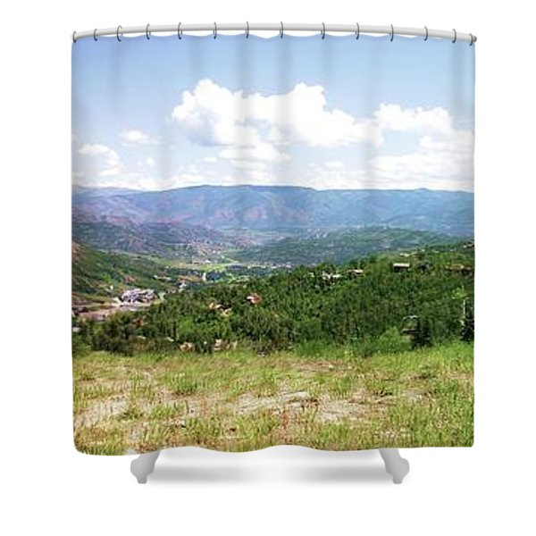 Down The Valley At Snowmass #2 Shower Curtain
