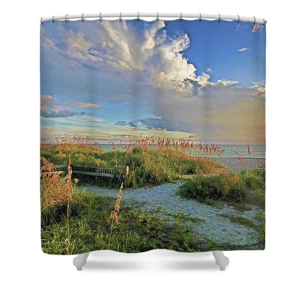 Down To The Beach 2 - Florida Beaches Shower Curtain