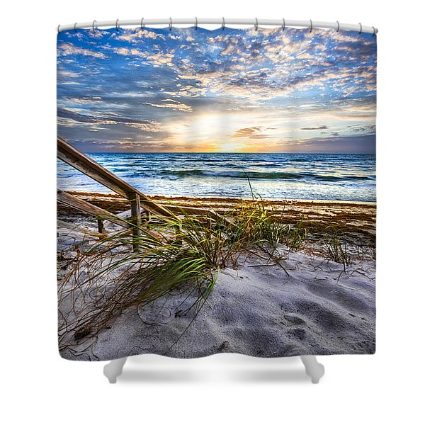 Down To The Shore Shower Curtain