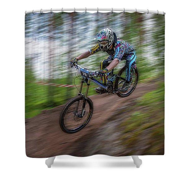 Downhill Race Shower Curtain
