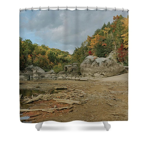 Downstream From Cumberland Falls Shower Curtain