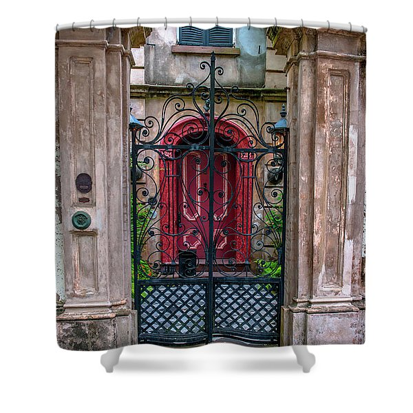 Downtown Charleston Architecture Shower Curtain