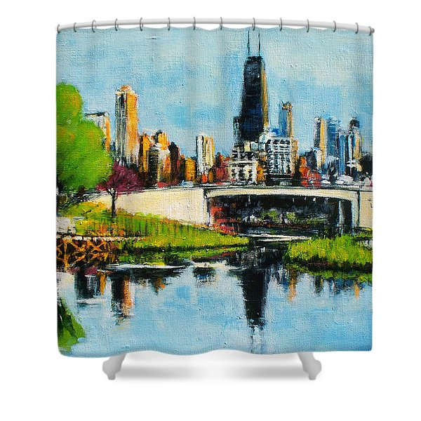 Downtown Chicago From Lincoln Park Shower Curtain