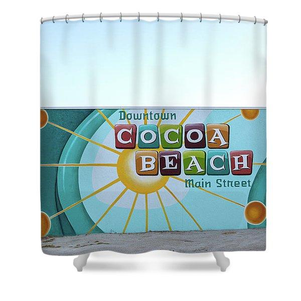 Downtown Cocoa Beach Shower Curtain