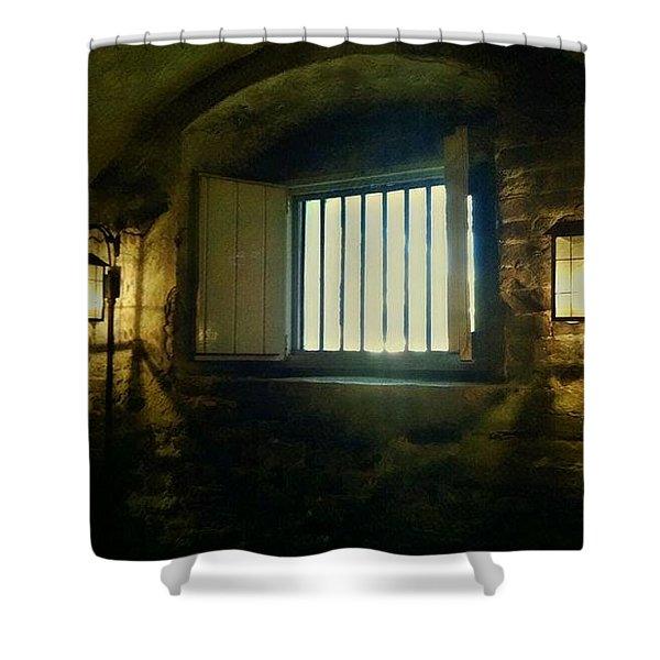 Downtown Dungeon Shower Curtain