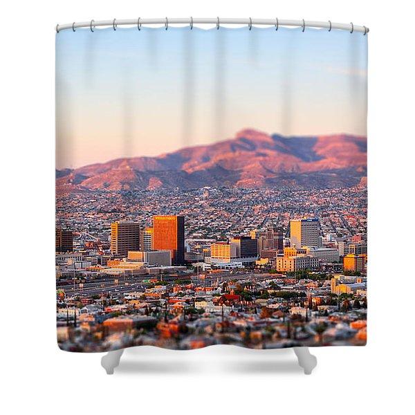 Downtown El Paso Sunrise Shower Curtain