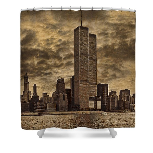 Downtown Manhattan Circa Nineteen Seventy Nine  Shower Curtain