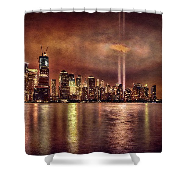 Downtown Manhattan September Eleventh Shower Curtain