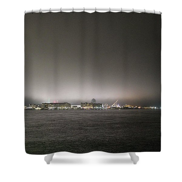 Downtown Oc Skyline Shower Curtain