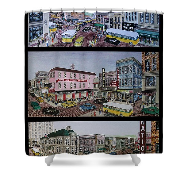 Downtown Portsmouth 1948 Shower Curtain