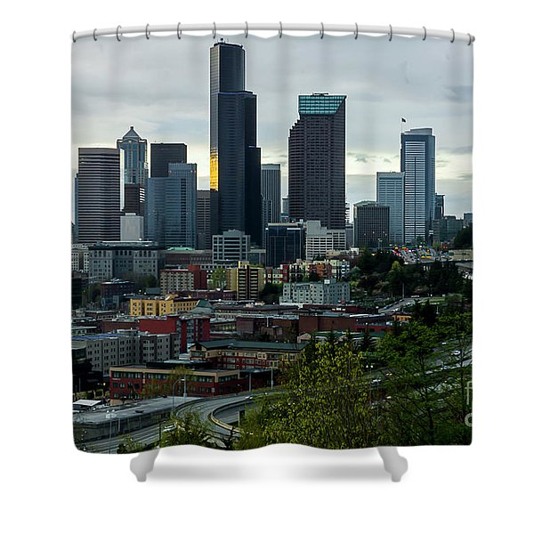 Downtown Seattle,washington Shower Curtain