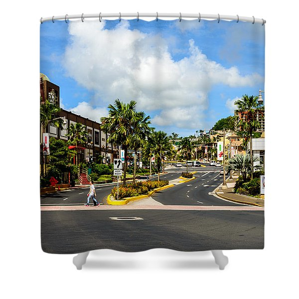 Downtown Tamuning Guam Shower Curtain