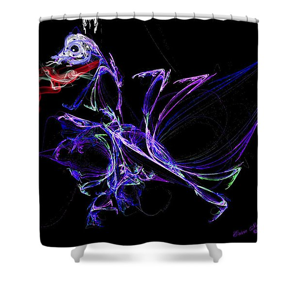 Dragon Dance Shower Curtain