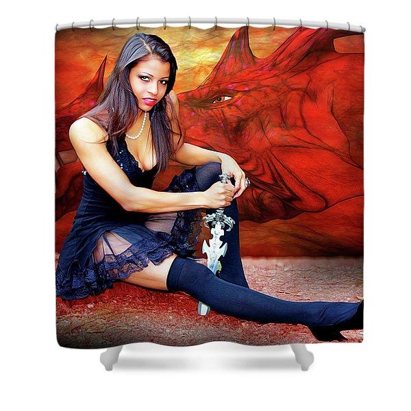 Dragon Dawn Shower Curtain