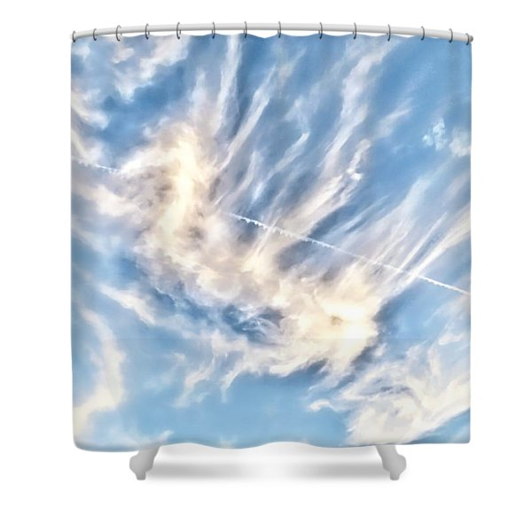 Dragon In The Flight Path Shower Curtain