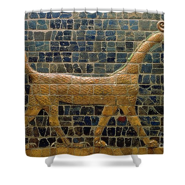 Dragon Of Marduk - On The Ishtar Gate Shower Curtain