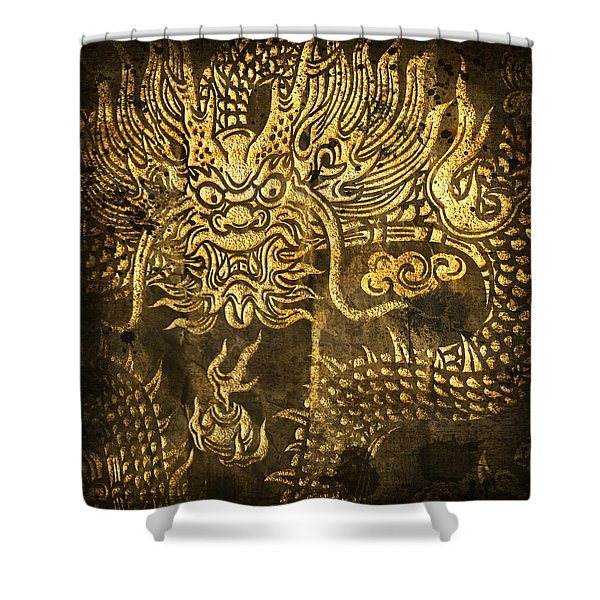 Dragon Pattern Shower Curtain