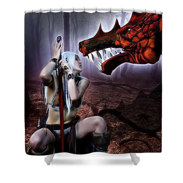 Dragon Whisperer Shower Curtain