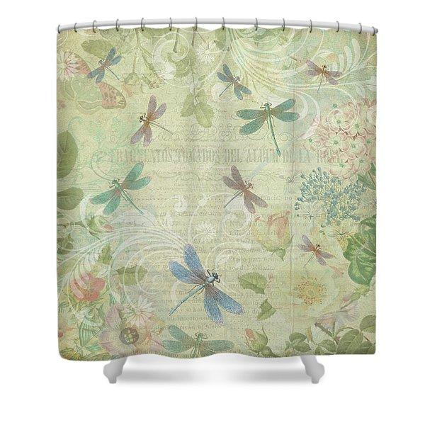 Dragonfly Dream Shower Curtain