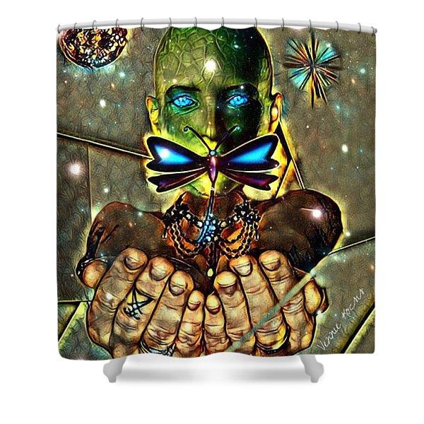 Dragonfly Empath Shower Curtain