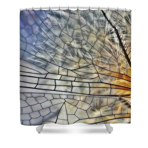 Dragonfly Wing Shower Curtain