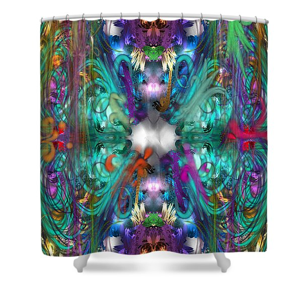 Dragons Of The Temple Shower Curtain
