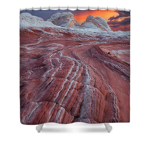 Dragons Tail Sunrise Shower Curtain