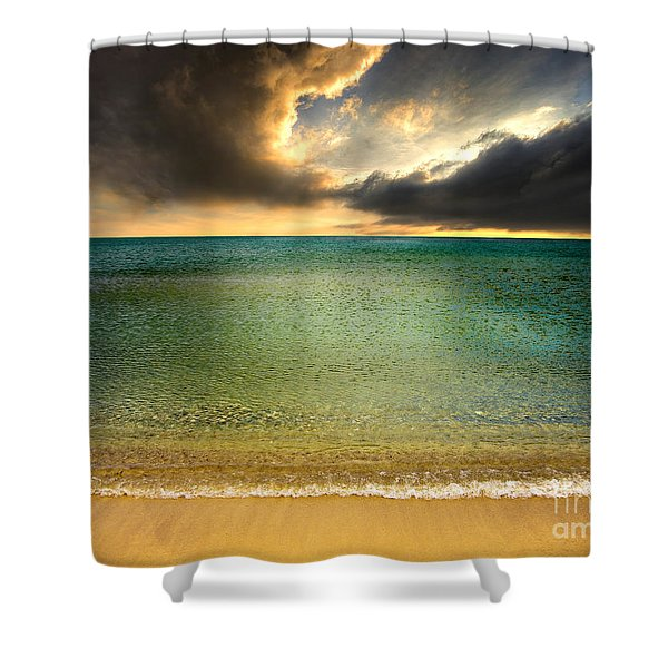 Drama At The Beach Shower Curtain