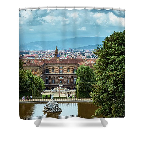 Drama In The Palace Of Firenze Shower Curtain