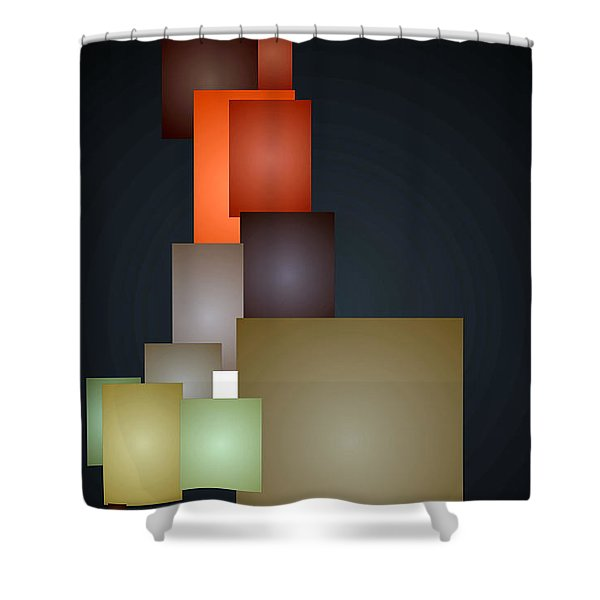 Dramatic Abstract Shower Curtain