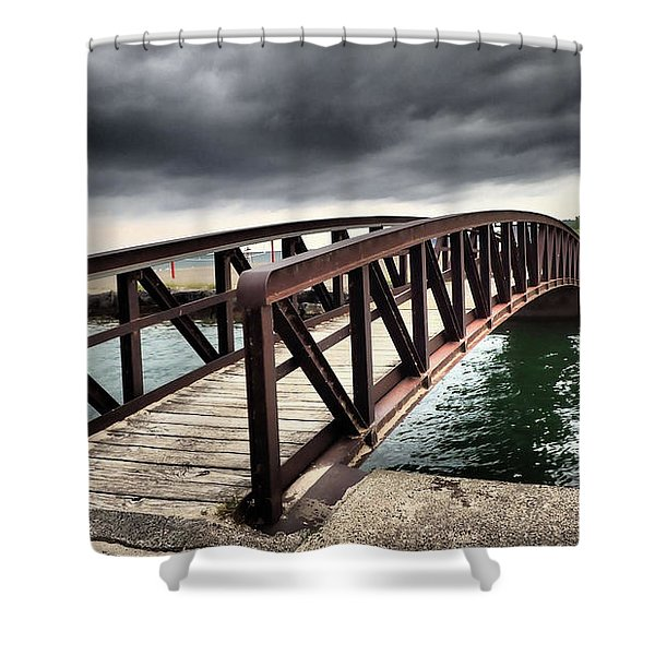 Dramatic Bridge Shower Curtain